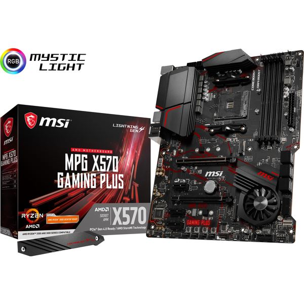 MSI AMD X570 ATX ゲーミングマザーボード MPG X570 GAMING PLUS