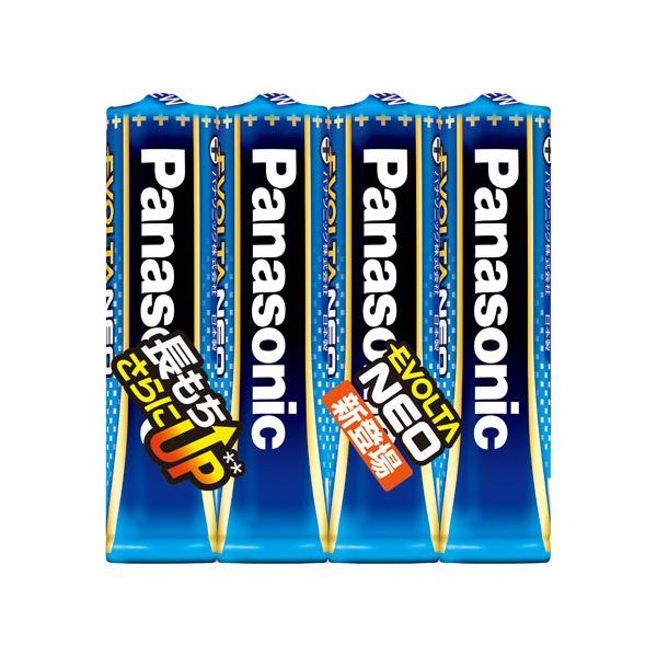 (まとめ) Panasonic 乾電池エボルタネオ単4形 4本入 LR03NJ/4SE【×20セット】