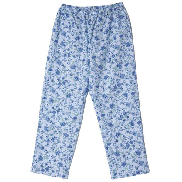 お肌にさらっと心地良い綿100%パジャマズボン 超安い ブルー M 送料無料でお届けします