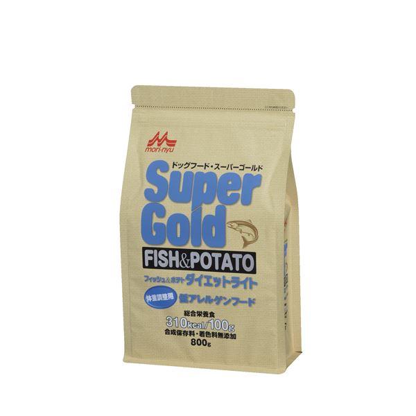 (まとめ)スーパーゴールド フィッシュ&ポテト ダイエットライト 800g【×12セット】【ペット用品・ペット用フード】
