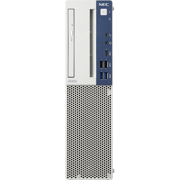 NEC Mate タイプME (Core i5-9500 3.0GHz/8GB/ミラーリング用500GB×2/マルチ/Of無/Win10 Pro/リカバリ媒体/3年パーツ) PC-MKM30EZGACR6