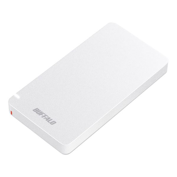 バッファロー USB3.1(Gen2) ポータブルSSD 480GB ホワイト