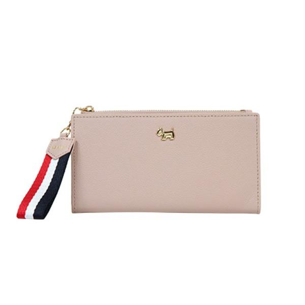 気張らず それでいてラフになりすぎない大人の女性の財布 AGATHA アガタ 代引不可 新色追加して再販 ストラップ付二つ折り長財布 ピンク 店 AGT193-303