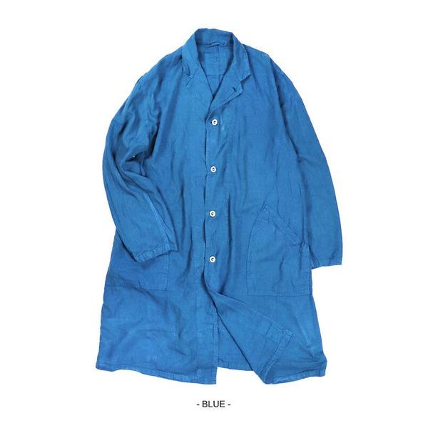 フランス軍タイプ麻綿混ワークコート ミッドナイトブルー 低廉 1 贈与 レディースフリーサイズ