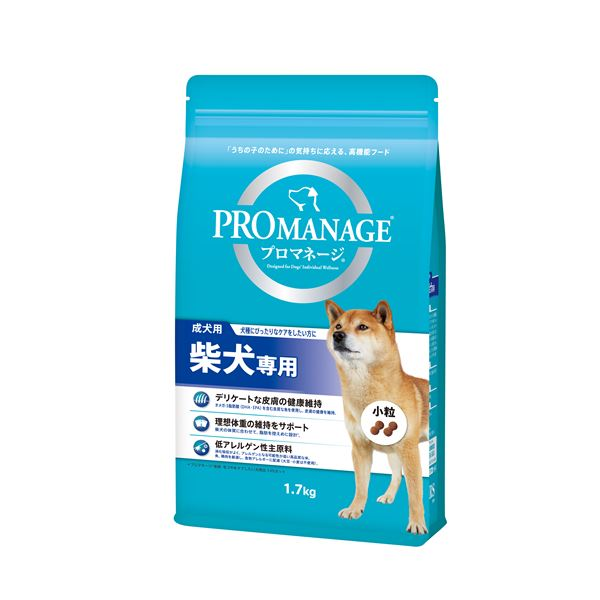 (まとめ)プロマネージ 成犬用 柴犬専用 1.7kg (ペット用品・犬フード)【×6セット】