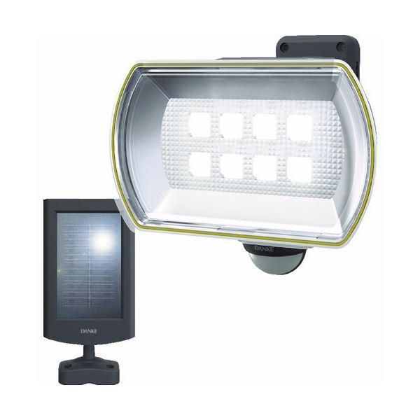 ムサシ ダンケ 8Wワイドフリーアーム式LEDソーラーセンサーライト E4680L 1台