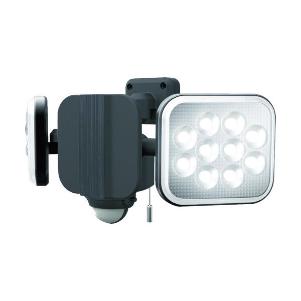 ムサシ ダンケ 12W×2灯フリーアーム式LEDセンサーライト E40224 1台