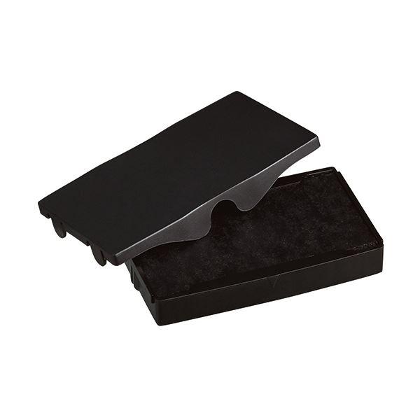 (まとめ) シャイニー スタンプ内蔵型角型印S-853専用パッド 黒 S-853-7B 1個 【×30セット】