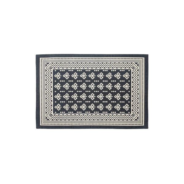 モダン ラグマット/絨毯 【170×230cm TTR-163B】 長方形 綿 インド製 〔リビング ダイニング フロア 居間〕