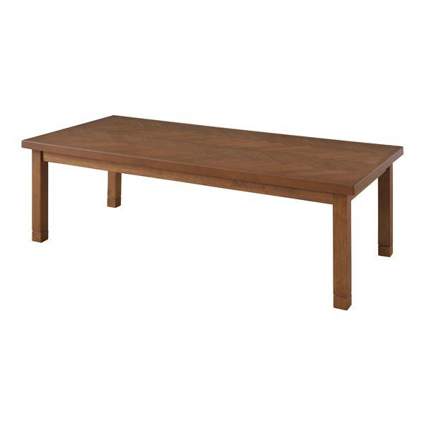 シンプル こたつテーブル/センターテーブル 【本体 ブラウン】 長方形 幅130cm 木製 中間スイッチ 〔リビング ダイニング〕