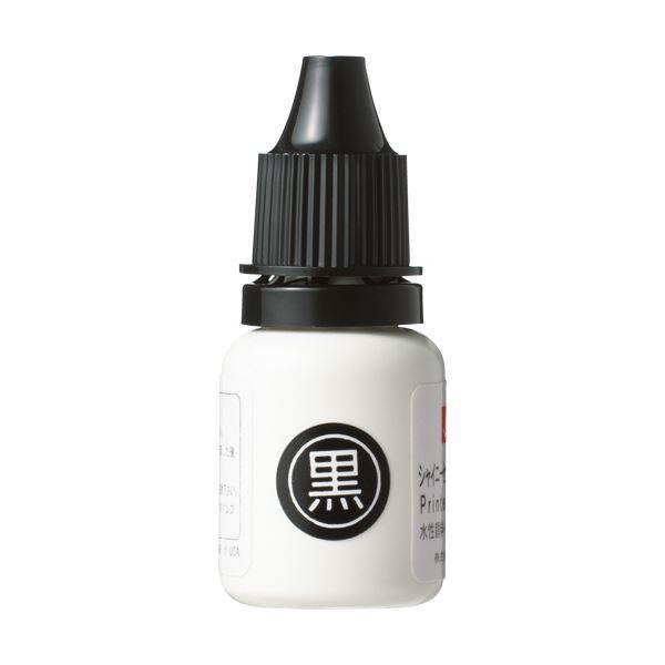 (まとめ) シャイニー スタンプ補充インキ回転式内蔵タイプ 黒 TSK-711855 1本 【×30セット】
