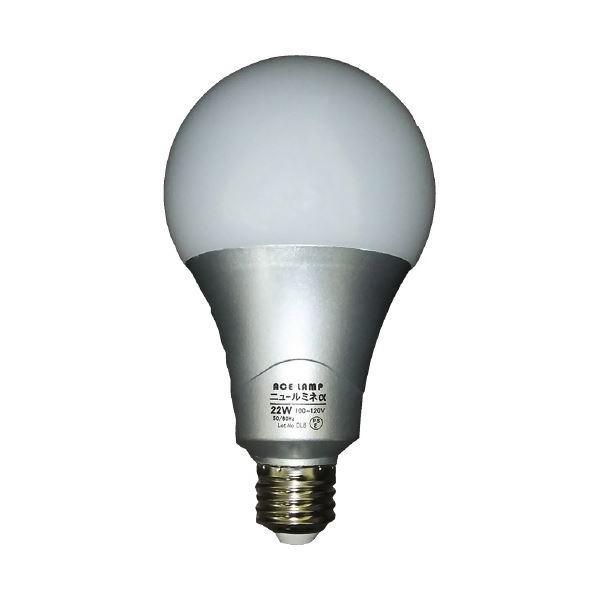 (まとめ)WINGACE LED電球 ニュールミネα22W LED-L22A(×20セット)