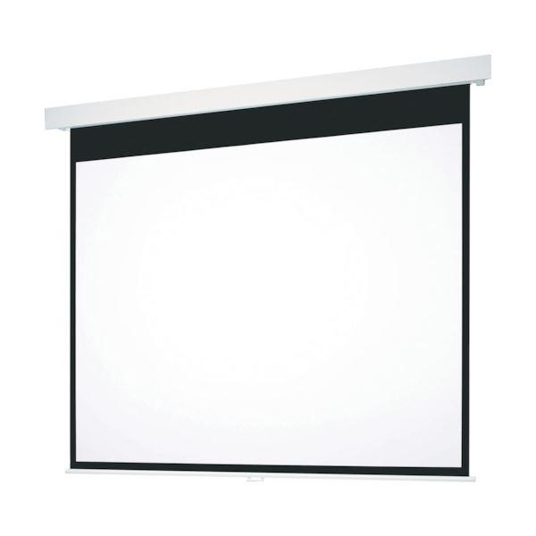 オーエス 120型手動巻上げ式スクリーン SMP-120VM-W1-WG 1台