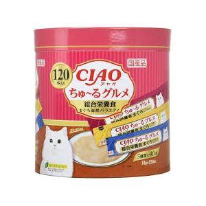 (まとめ)ちゅ~るグルメ 120本入り 総合栄養食 まぐろ海鮮ミックス味 (ペット用品・猫フード)【×4セット】