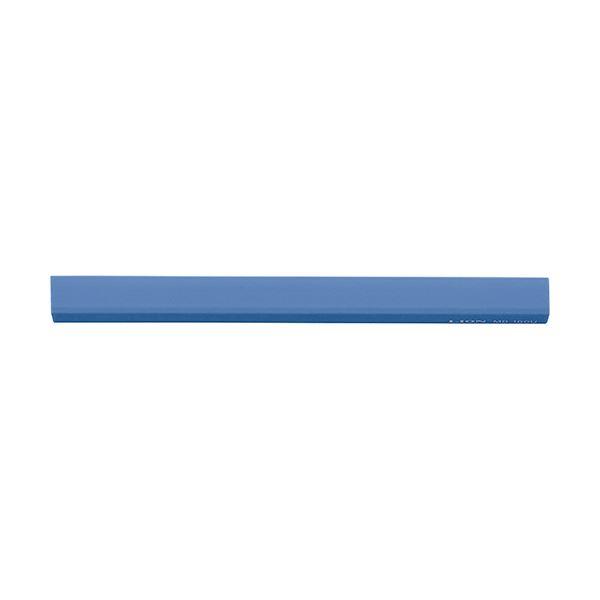 (まとめ) ライオン事務器 マグネットバー長さ160×幅15×厚さ16mm ブルー MB-160U 1本 【×30セット】