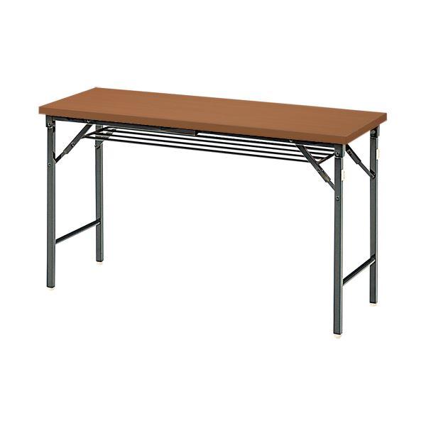 ジョインテックス 脚折りたたみテーブル TWS-M1245WN 天板:ウォールナット
