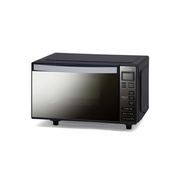 アイリスオーヤマ 電子レンジ フラットテーブル ミラーガラス ブラック MO-FM1804-B