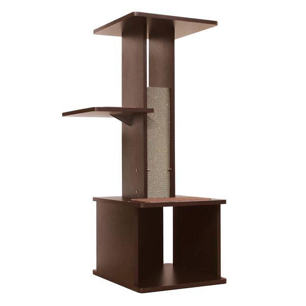 necoco スリムで壁ぎわに置きやすい キャットリビングタワー(ペット用品)