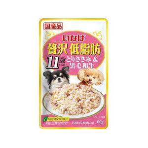 (まとめ)贅沢低脂肪 11歳からのとりささみ&黒毛和牛 (ペット用品・犬フード)【×96セット】