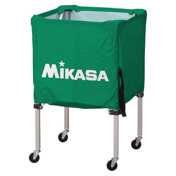 MIKASA(ミカサ)器具 ボールカゴ 箱型・小(フレーム・幕体・キャリーケース3点セット) グリーン 【BCSPSS】