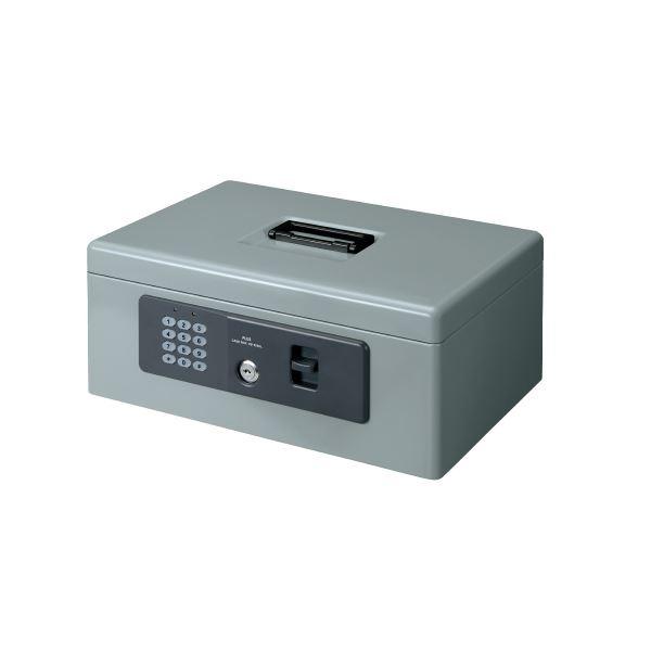 プラス 電子ロック手提金庫 M CB-020HL グレー