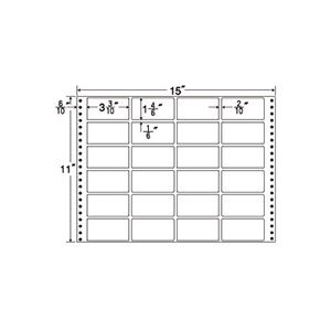東洋印刷 ナナフォーム 連続ラベルMタイプ 15×11インチ 24面 84×42mm MT15T 1箱(500折)