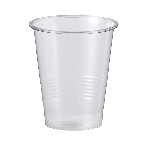 (まとめ)TANOSEE リサイクルPETカップ 270ml(9オンス)1パック(100個)【×10セット】