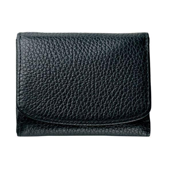 コンパクトな三つ折り財布 ル 発売モデル プレリー三つ折り財布 クロ NPS5570 代引不可 絶品