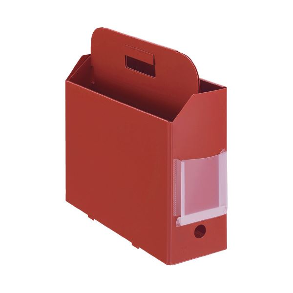 (まとめ)プラス PPキャリーボックス+A4E レッド (×50セット)