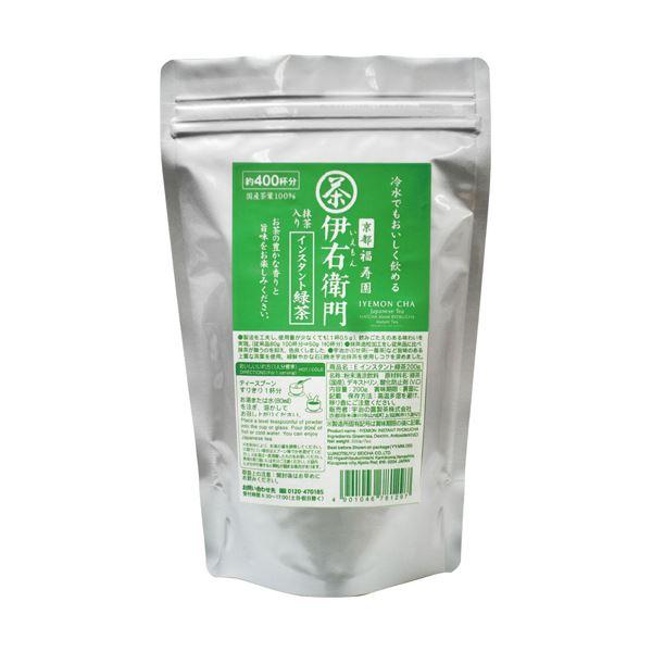 宇治の露製茶 伊右衛門抹茶入インスタント緑茶 200g 1セット(3パック)