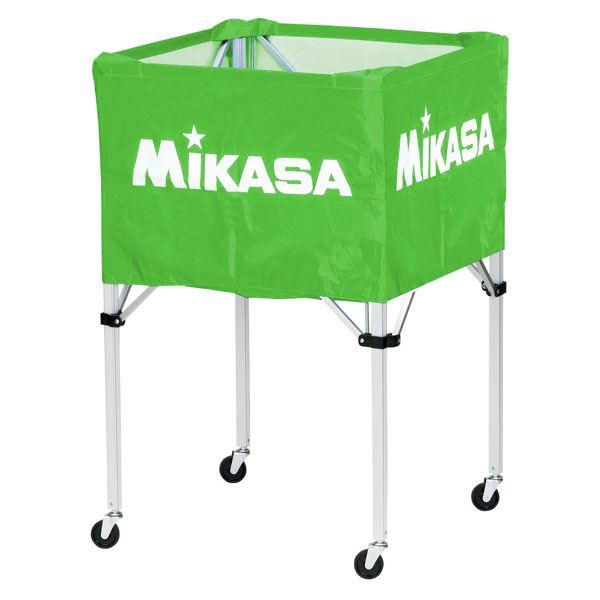 MIKASA(ミカサ)器具 ボールカゴ 箱型・大(フレーム・幕体・キャリーケース3点セット) ライトグリーン 【BCSPH】