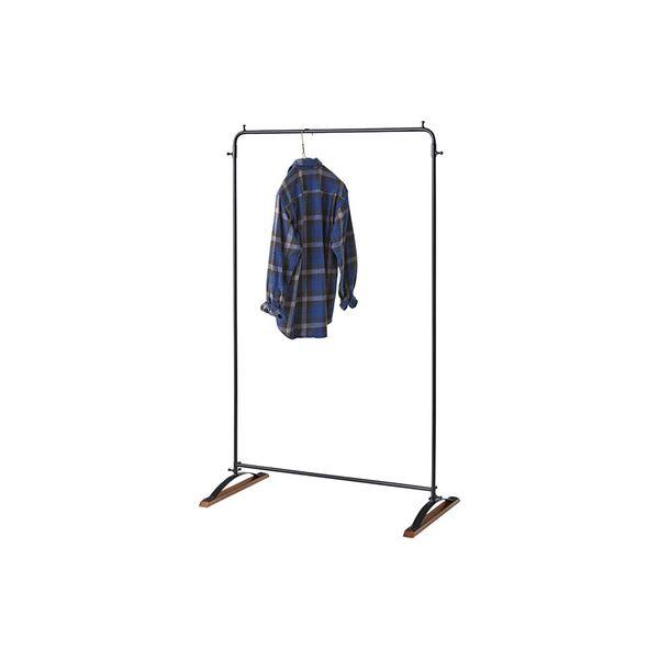 シンプル アイアンハンガー/ハンガーラック 【幅95cm】 木製 ウレタン塗装 〔寝室 ベッドルーム リビング 玄関〕