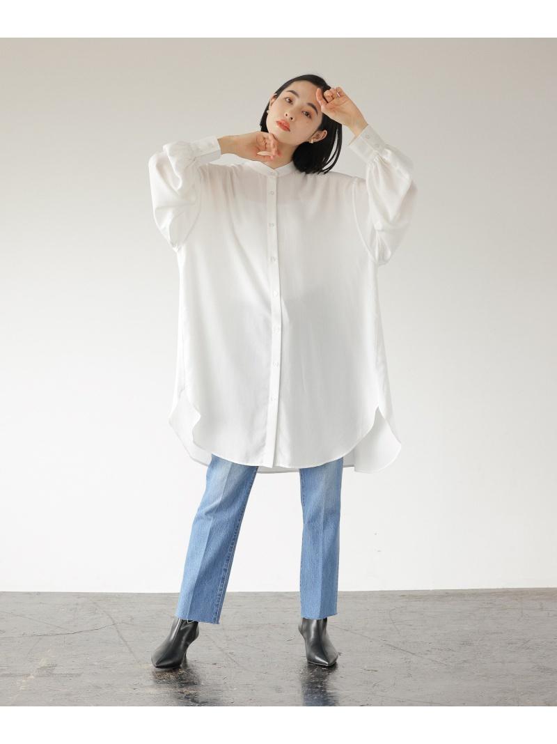 LOWRYS FARM レディース シャツ ブラウス ローリーズファーム 価格交渉OK送料無料 バンドカラーロングSHLS ホワイト 長袖シャツ ブルー 予約販売品 Fashion Rakuten グレー 送料無料