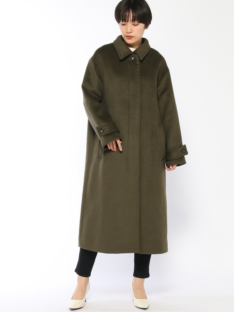 [Rakuten Fashion]メリノステンカラーコート LOWRYS FARM ローリーズファーム コート/ジャケット ロングコート カーキ ブラック ブラウン【送料無料】