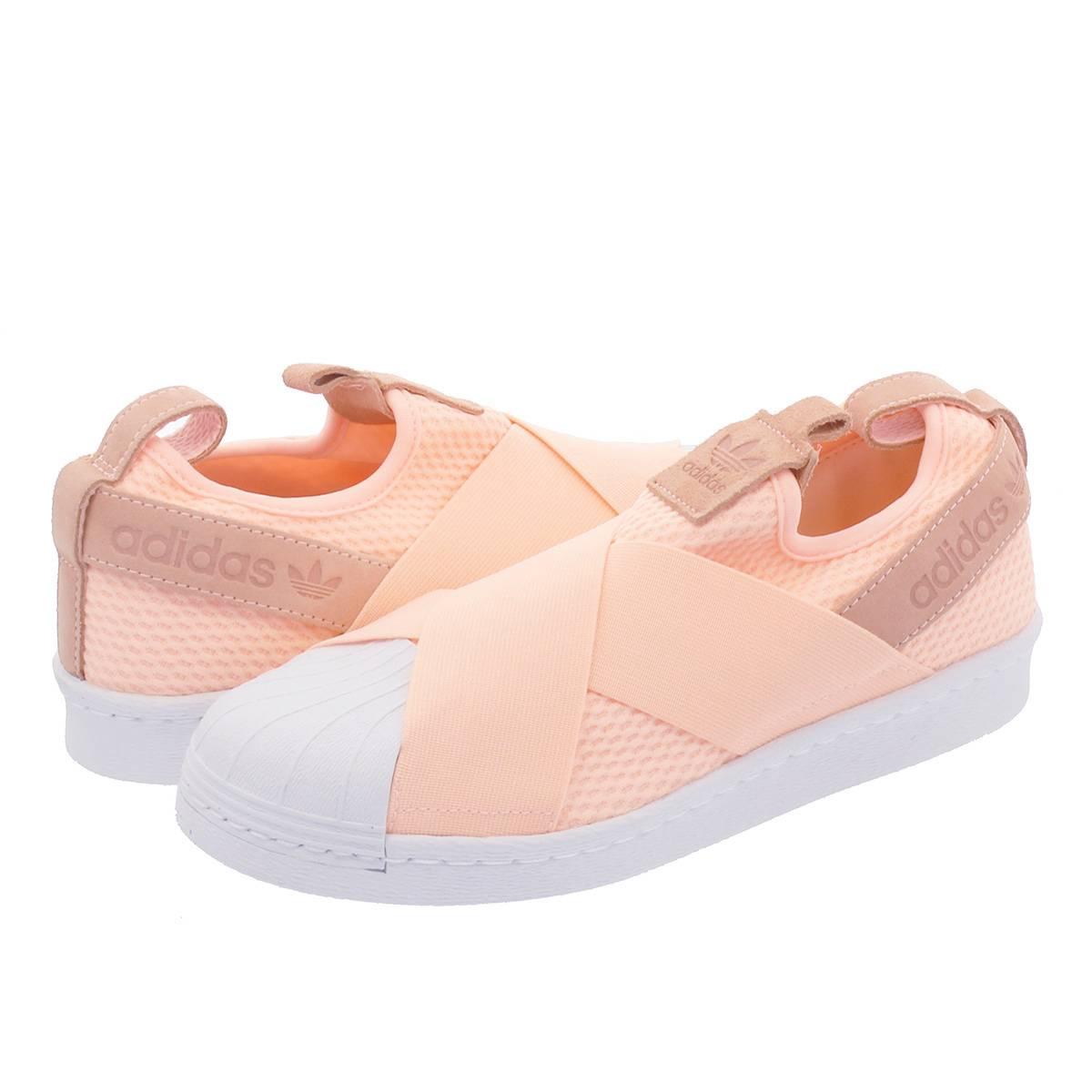 2bfde548c53 adidas SS Slip On W Adidas superstar slip-ons women CLEAR ORANGE RUNNING  WHITE