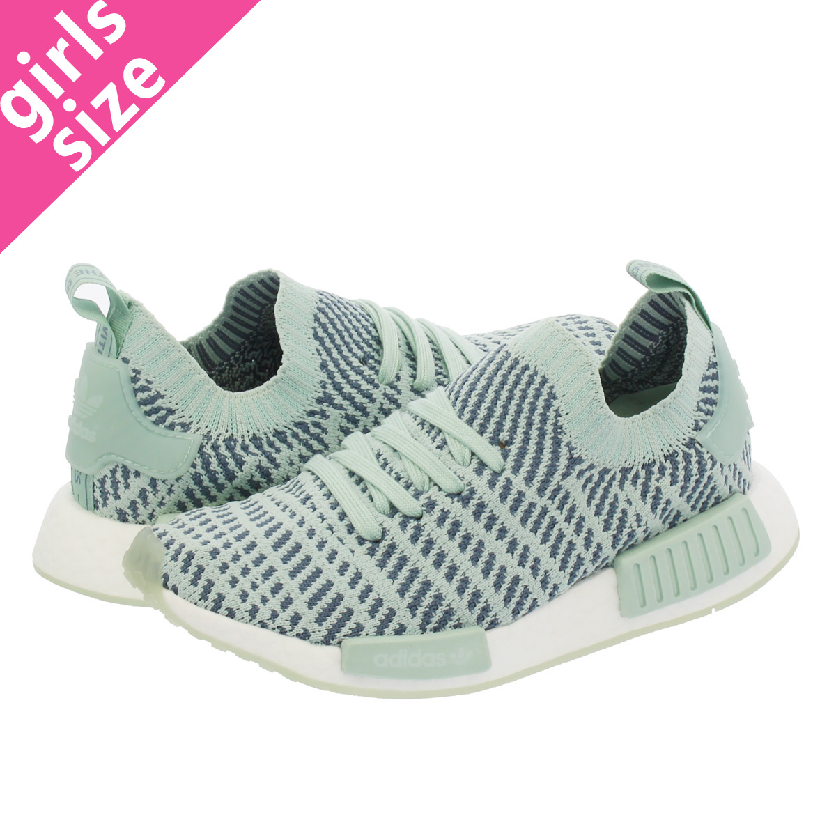 huge discount db6cf 3f81c adidas NMD_R1 STLT PK W Adidas NMD R1 STLT PK W ASH GREEN/LOW STEEL/RUNNING  WHITE RAW