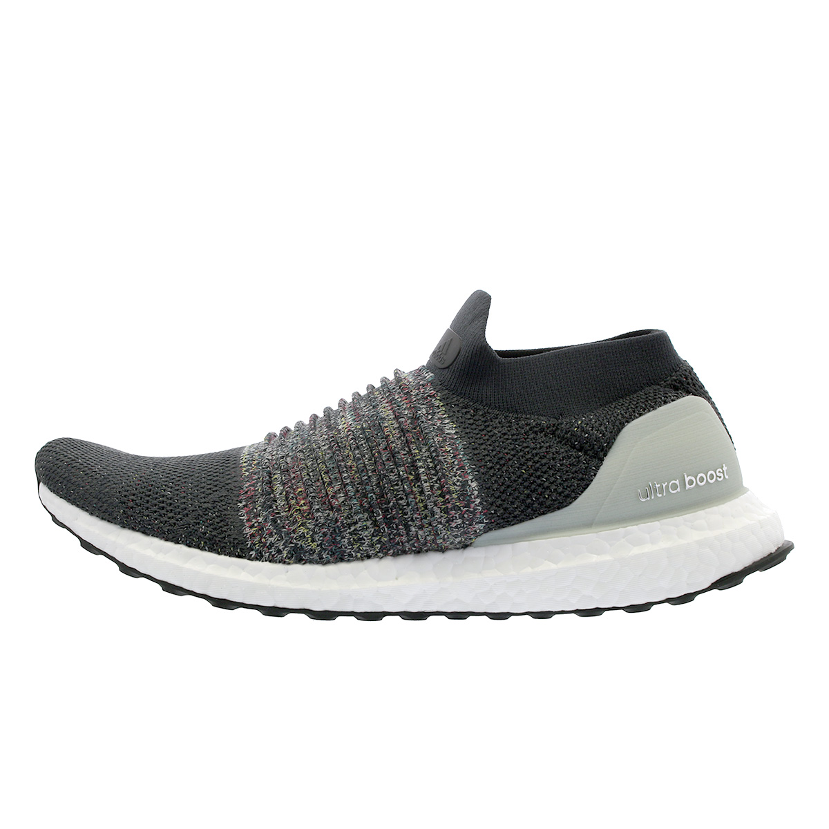 ADIDAS ULTRA BOOST Laceless, Carbon Solid Grey Ash