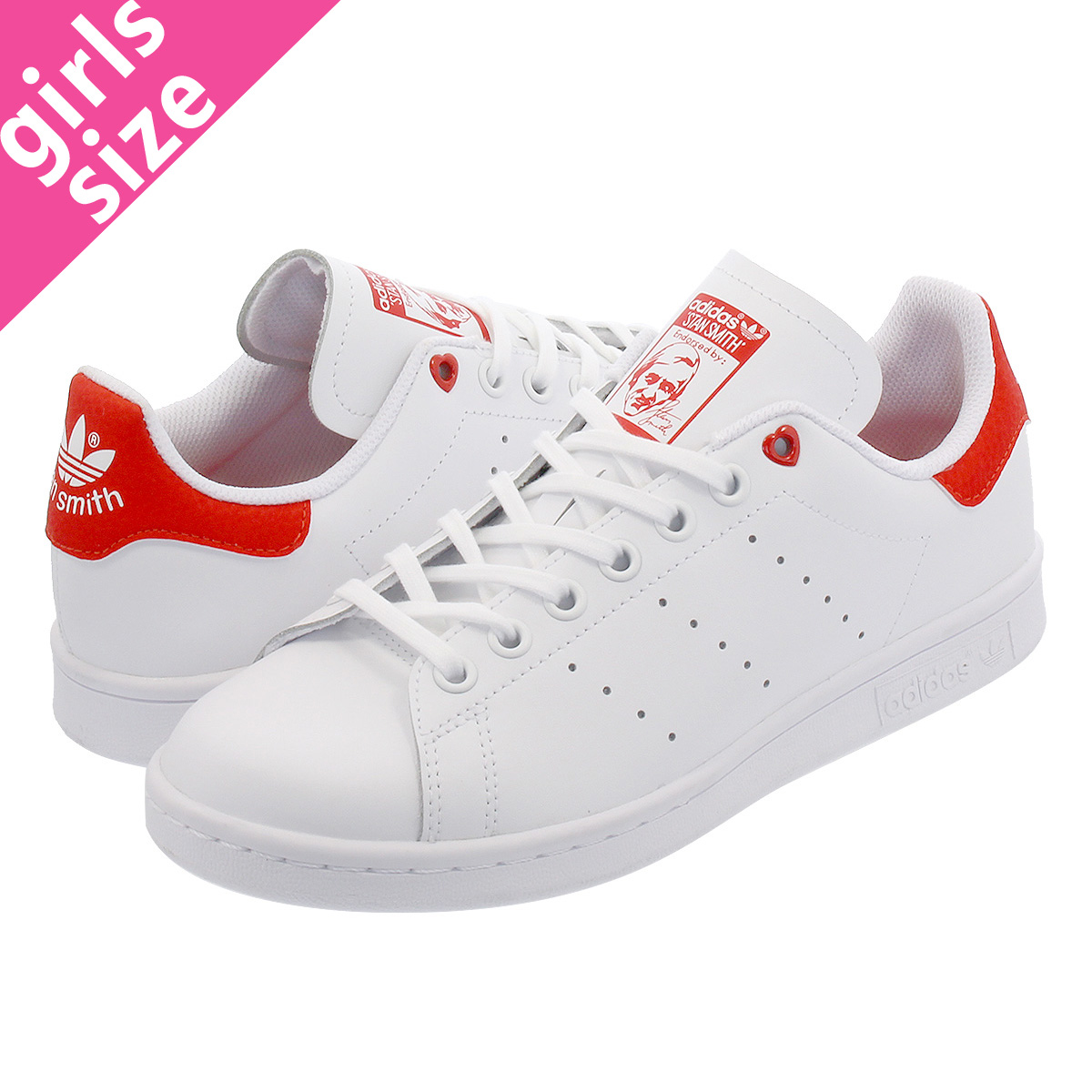 los angeles new york big discount adidas STAN SMITH J Adidas Stan Smith J RUNNING WHITE/WHITE/ACTIVE RED  g27631
