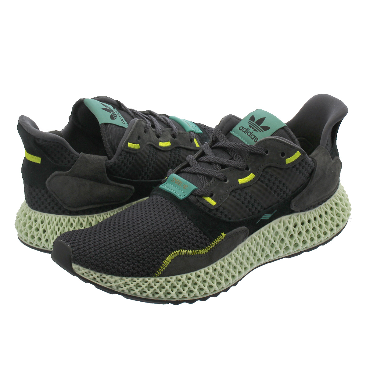 Adidas ZX 4000 4D 'CarbonCarbonSemi Solar Yellow' BD7865