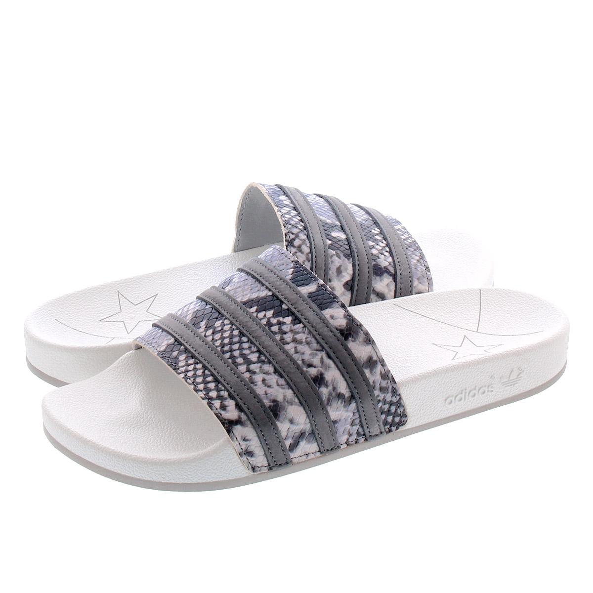 adidas ADILETTE ??????????? CRYSTAL WHITEGREY FOURGREY TWO eh0166