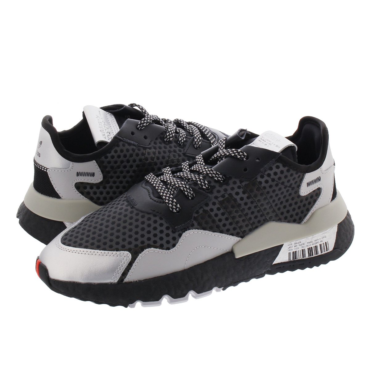 adidas NITE JOGGER アディダス ナイト ジョガー CORE BLACK/SILVER METALLIC/GREY TWO ef5407