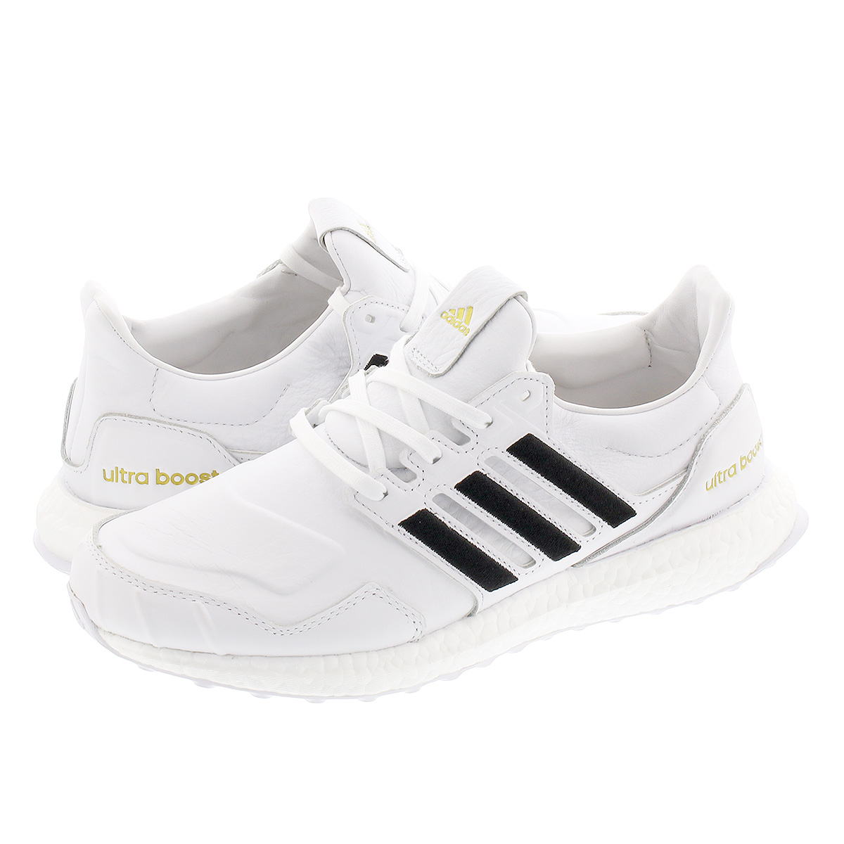 adidas ULTRABOOST DNA LEATHER アディダス ウルトラブースト DNA レザー FTWR WHITE/CORE BLACK/GOLD METALLIC eh1210