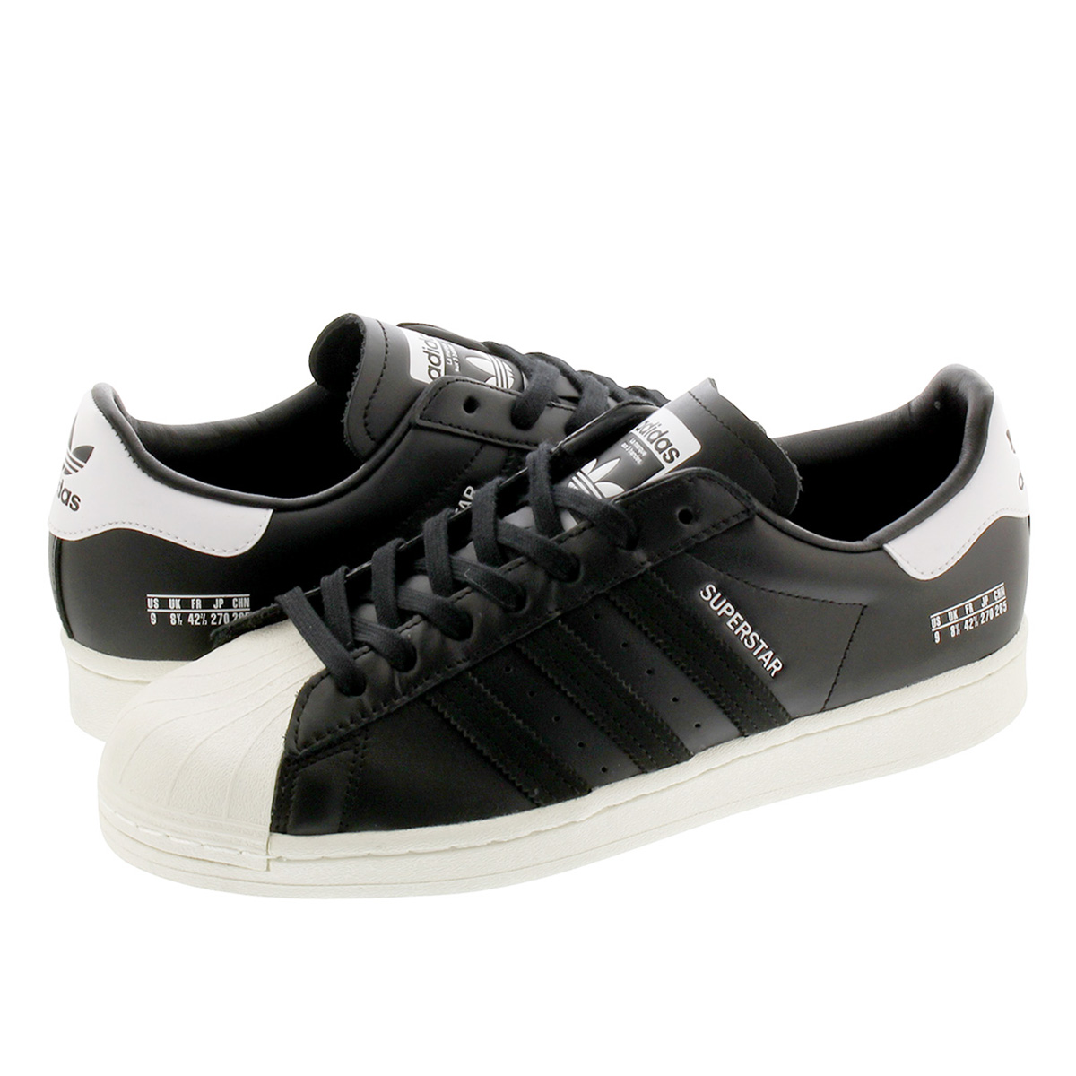 【スーパーSALE】adidas SUPERSTAR アディダス スーパースター CORE BLACK/CORE BLACK/OFF WHITE fv2809