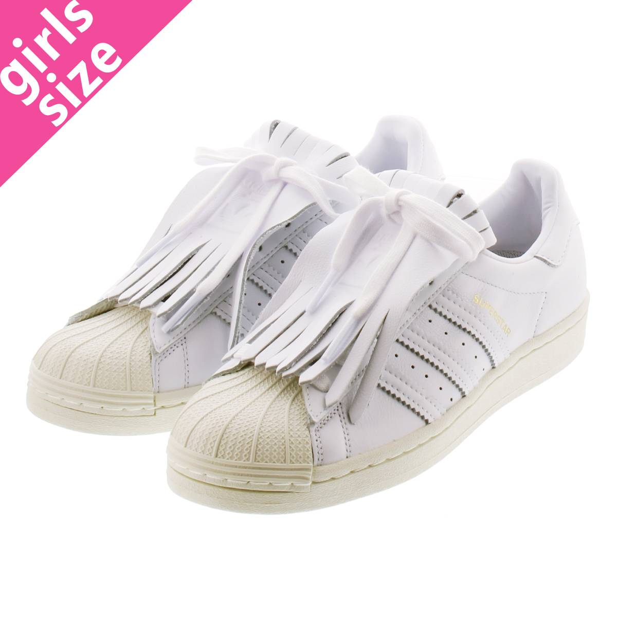 adidas SUPERSTAR FR W アディダス スーパースター フリンジ ウィメンズ FTWR WHITE/OFF WHITE/GOLD METALLIC fv3421