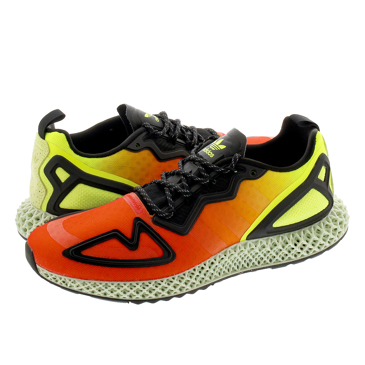 adidas ZX 2K 4D アディダス ZX 2K 4D SOLAR YELLOW/HI-RES RED/CORE BLACK fv9028