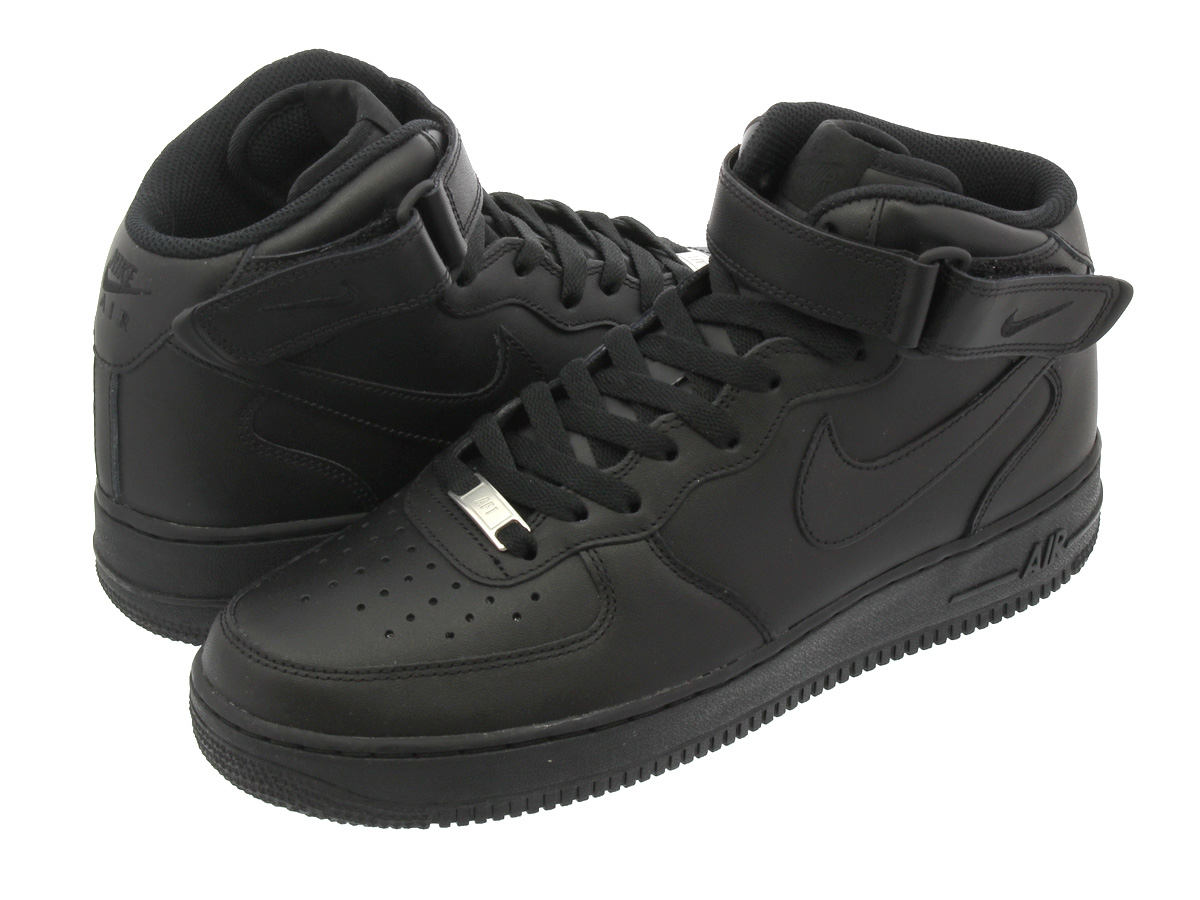 save off e7341 0890f NIKE AIR FORCE 1 MID Nike Air Force 1 mid BLACK