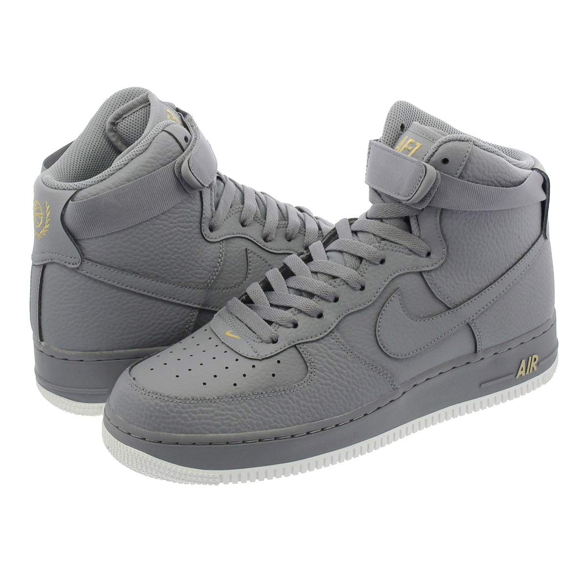 NIKE AIR FORCE 1 HIGH 07 Nike air force 1 high 07 COOL GREY/SUMMIT  WHITE/METALLIC GOLD 315,121-049