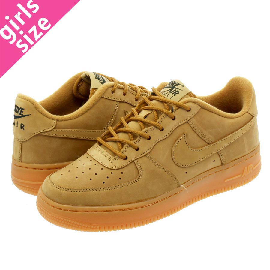 new product 896fd 157f6 NIKE AIR FORCE 1 WINTER PREMIUM GS耐吉空軍1冬天高級GS FLAX FLAX OUTDOOR GREEN
