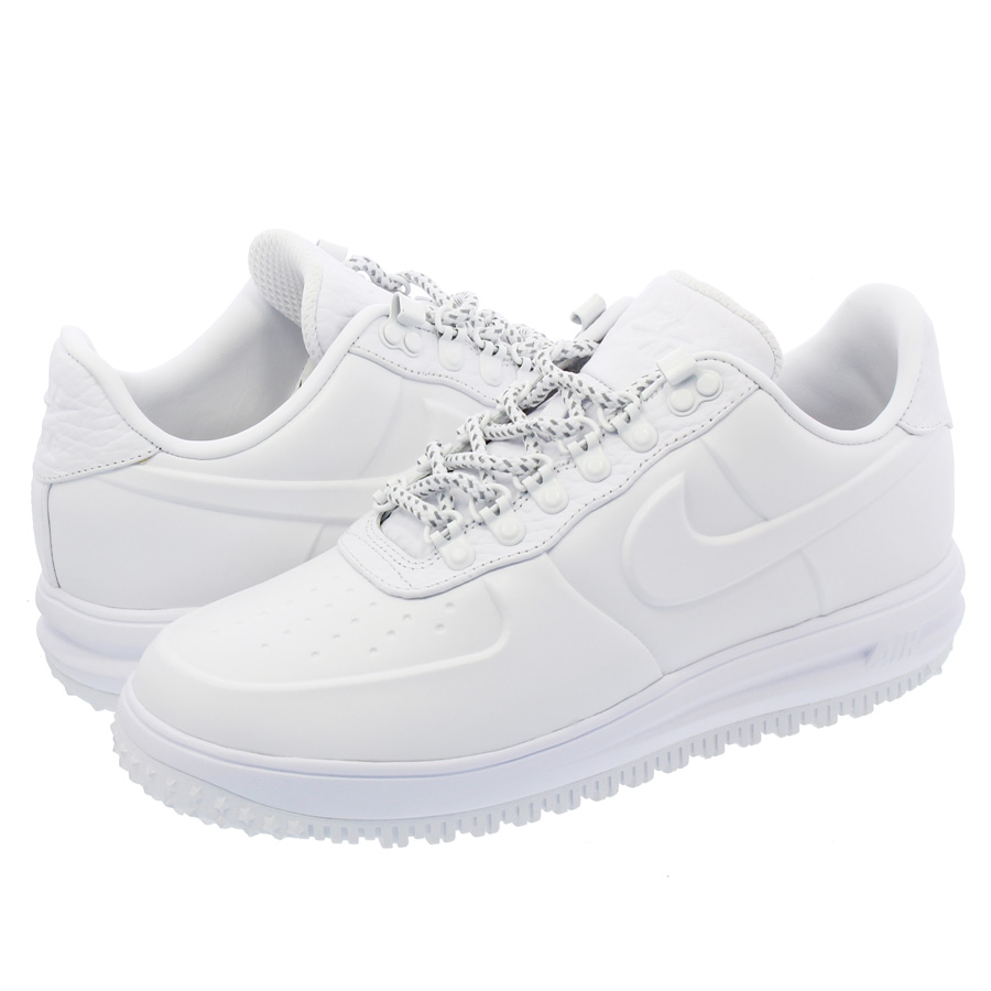 buy online de64f 31c91 ... reduced nike lunar force 1 duckboot low prm nike luna force 1 duck  boots low premium low price nike lf1 low prm lunar force 1 snow pack white  men ...