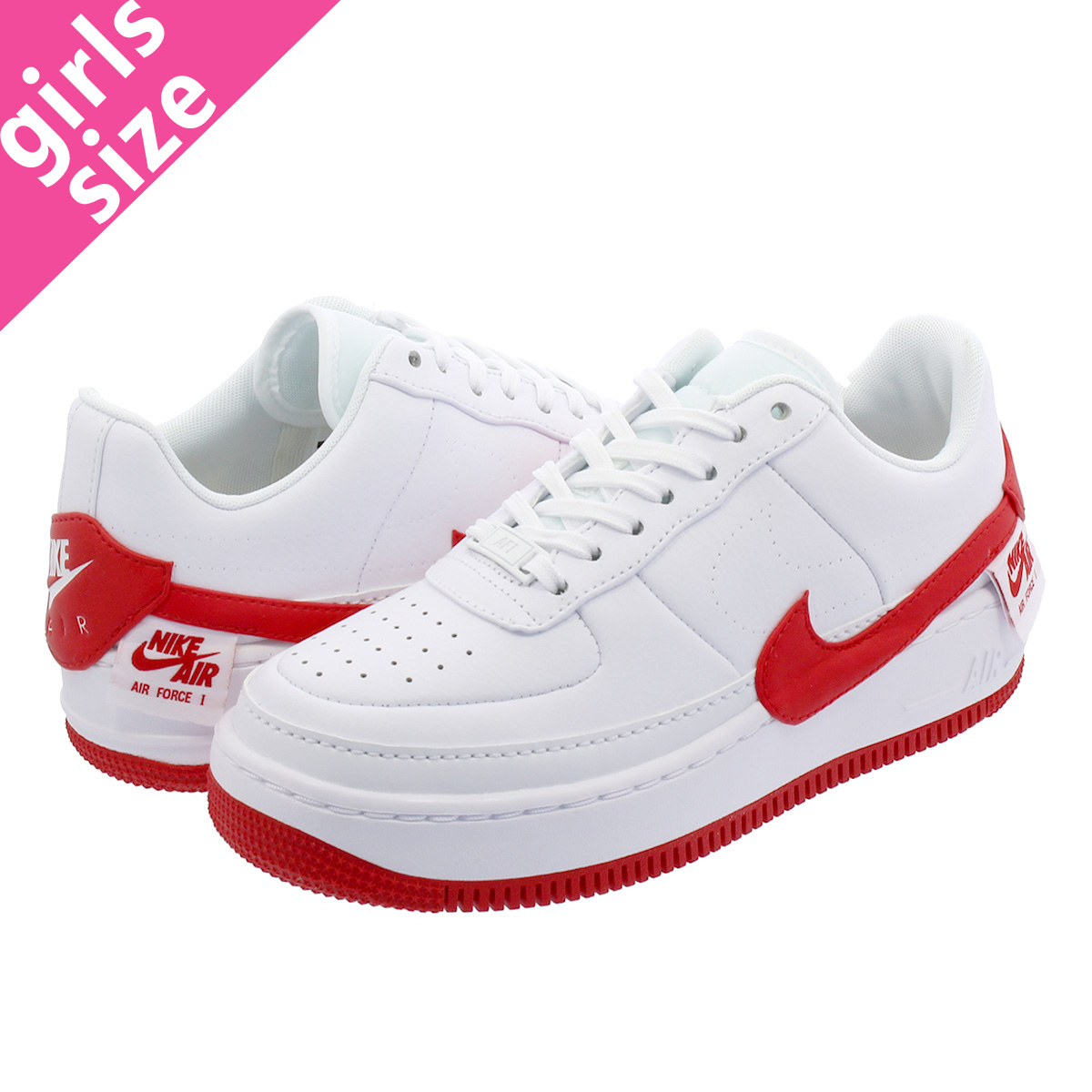 NIKE WMNS AIR FORCE 1 JESTER XX Nike women air force 1 Jester XX WHITEUNIVERSITY RED ao1220 106